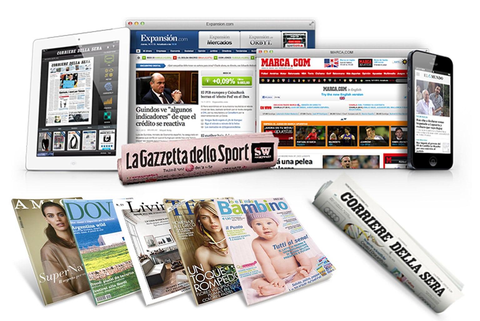 SPAZI PUBBLICITARI VARI FORMATI E REDAZIONALI SU QUOTIDIANI E PERIODICI CARTACEI CAMPAGNE PUBBLICITARE SU QUOTIDIANI E PERIODICI WEB PIANIFICAZIONE COMPUTER E MOBILE / TABLES INSERTI E CELOFANATURA SU QUOTIDIANI E PERIODICI