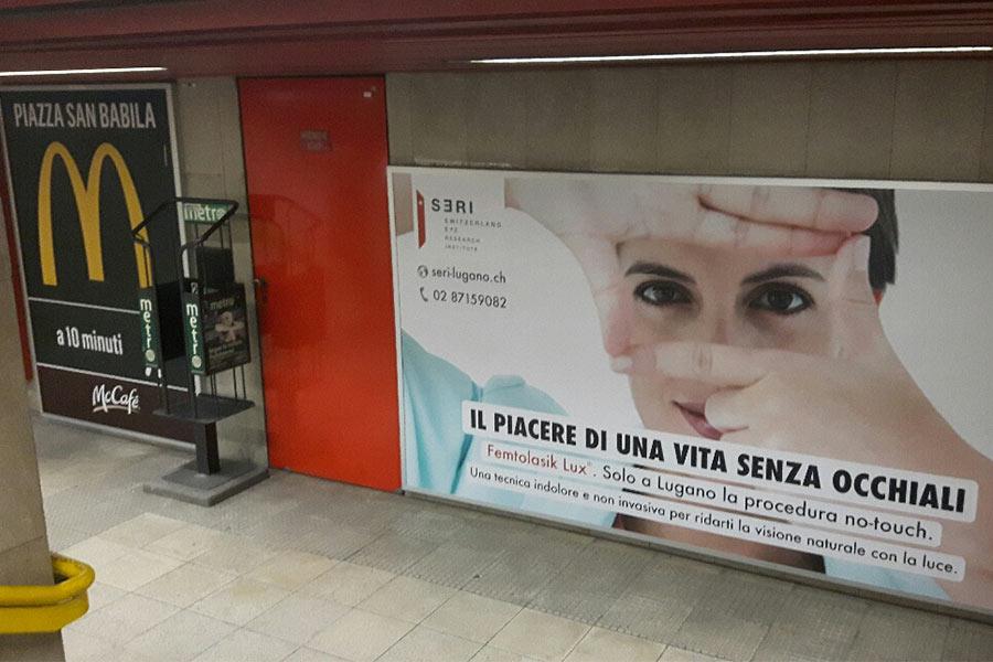 Pubblicità metropolitana Milano